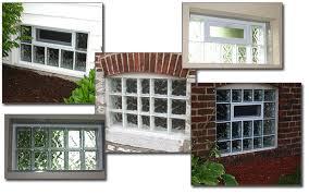 glass block basement windows glass block windows in st louis exterior