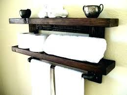 bathroom shelf with hooks towel wooden like this item wood wall shelves white hook
