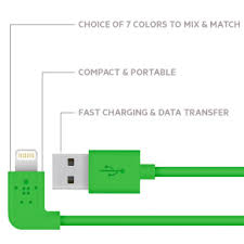 mixit↑ 90° lightning to usb cable mixit↑ lightning to usb cable connect in color