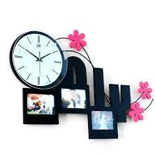 long reach frame creative fashion watches modern living room photo wall clock mute quartz bedroom case