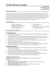 Sample Project Manager Resume Objective Project Manager Resumes Project Manager Resume Sample Writing Tips 62