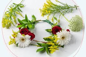 diy garden blooms flower crown