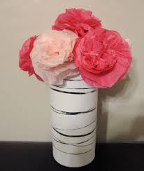 Flower Vase With Paper Tissue Paper Flowers The Hyper House