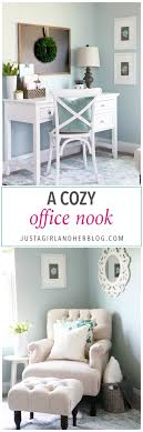 decorating a small office. Home- Cozy Office Nook, Feminine Home Office, Organized Small Decorating A F