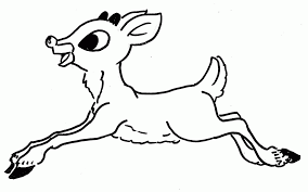 Rudolph The Red Nosed Reindeer Coloring Pages Page Santa 333921