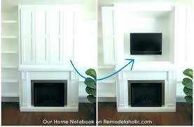 hiding tv wires over fireplace how to hide cords on wall mounted above fireplace how to hiding tv