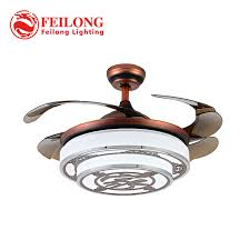 ceiling fans with hidden blades. Chinese Style Ceiling Fan Hidden Blades Y4220 Red Body Retractable Creative Design Lamp Fans With H