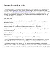 8 Contract Termination Template Hospedagemdesites165 Com