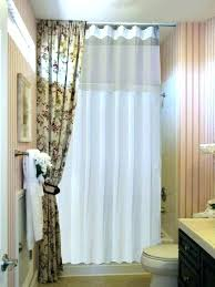 ceiling mounted shower curtain mount rod oval track straight