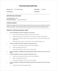 call center supervisor resume example sample call center job description 9  examples in call center manager .