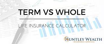 term vs whole life insurance calculator