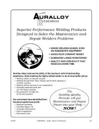 Auralloy Welding Products Chromate Industrial Corporation