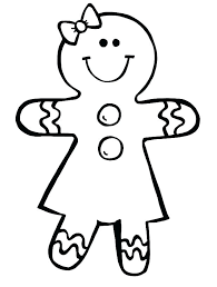 Gingerbread Man Coloring Pages Printable Gingerbread Man Coloring