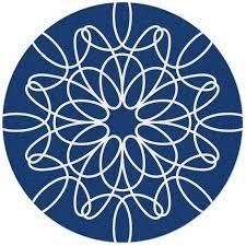 circular rug large round ribbon rug in blue and white round rug ikea australia