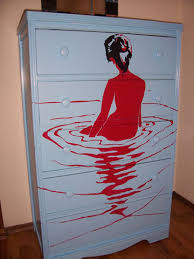 cool painted furniture. Take, For Example, This Very Cool Dresser, Hand-finished And Painted By Seattle Artist Lauren Sult. With Just The Right Group Of Items, Would Be An Furniture I