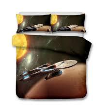 3d printed bedding star trek theme bedding enterprise spaceship sets duvet cover set startrek bedding sets queen star trek kids bedding sets star trek