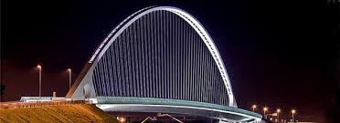 artistic lighting. artistic lighting and energy savings for one of the most beautiful modern bridges in italy g