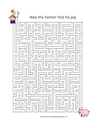 Maze For Kindergarten Worksheets For 5 Year Maze Printable ...