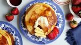 blue cornmeal pancakes  gluten free and low sugar