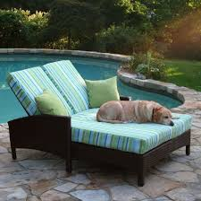 furniture dazzling double chaise lounges 29 outdoor throughout 2017 wicker lounge with stripped cushion double chaise