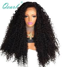 <b>350gram Kinky Curly Lace</b> Front Wig Thick Density Human Hair ...