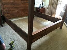 diy canopy bed frame king size canopy bed step 8 diy metal canopy bed frame
