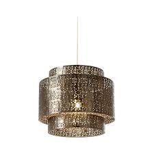 ne bramham bz bronze metal decorated ceiling light shade