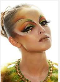 crystal accented artistic and colorful fantasy make up