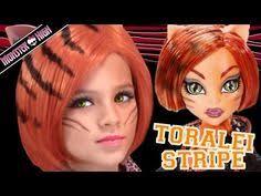 tei stripe monster high doll costume makeup tutorial for o