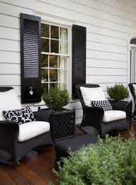 Paint shutters black to match wicker and black front door? would look great  with white  White Wicker Patio FurniturePainting ...