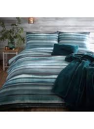 john rocha hadi striped duvet cover cotton green single