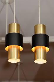 brass pendant lighting. pair of danish modern cylindrical brass pendant lamps and pendants lighting