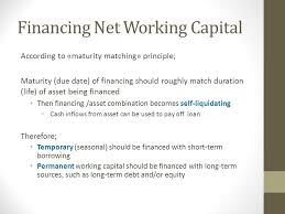 Net Working Capital Formula Management Financing Of Working Capital Ppt Download