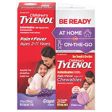 Children S Chewable Tylenol Dosage Chart Childrens Tylenol Be Ready Liquid Chewable Tablets Pack