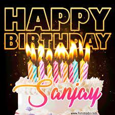 sanjay animated happy birthday cake