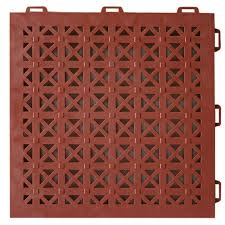 greatmats staylock perforated terra cotta 12 in x 12 in x 0 56 in