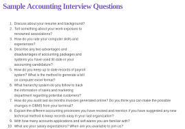 Sample Resume Questions Sample Accounting Interview Questions Read more httpwww 41