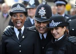 black and asian police officers woeful