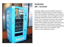 Umbrella Vending Machine Uk Beauteous 48 Examples Nuala
