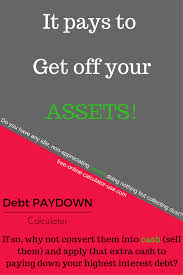 Debt Pay Down Calculator Savings From One Time Extra Payment Debt