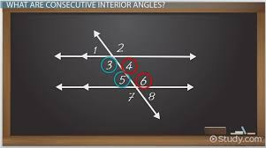 consecutive interior angles definition theorem lesson transcript study com