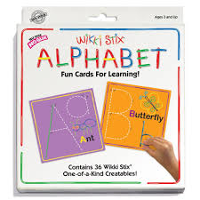 Amazon Com Wikki Stix Alphabet Fun Cards For Learning Toys Games