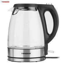 Ấm đun nước siêu tốc thủy tinh Tiross TS-496 1.7L 2200W, giá chỉ ...