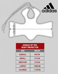 Adidas Chest Protector Sizing Chart Adidas Wtf Taekwondo Solid Reversible Chest Protector