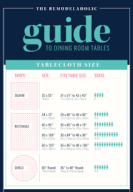 tablecloth sizes for round tables starrkingschool remodelaholic the guide to dining table sizes