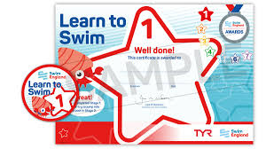 Learn To Swim Stage 1 7 Awards Swim England Learn To Swim