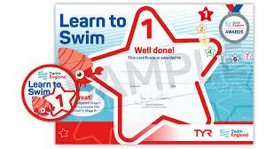 Swim Goals Chart Learn To Swim Stage 1 7 Awards Swim England Learn To Swim