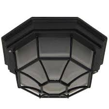megan 1 light black outdoor flushmount