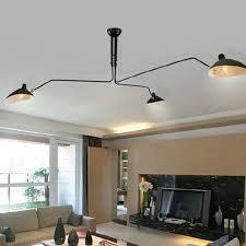 vintage ceiling lighting. Vintage Ceiling Lights Black Iron For Living Room Dining Loft Duckbill Lampshade 6 Lamp Holder Lighting L