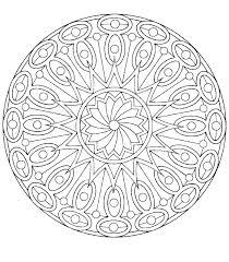 Free Printable Easy Mandala Coloring Pages Difficult Mandalas Print